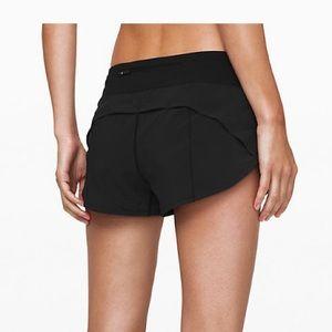 Lululemon black speed shorts 2.5